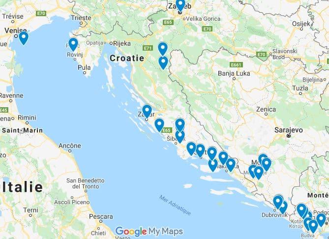 Itinéraire 15 jours Road Trip en Croatie